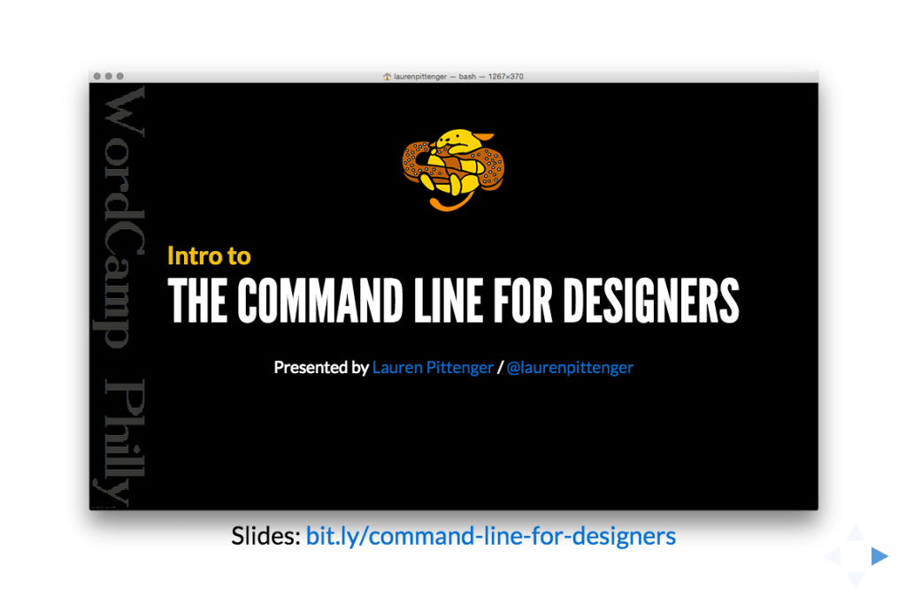 Intro to the Command Line for Designers